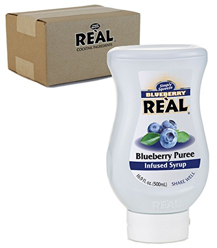 Blueberry Reàl, Blueberry Puree Infused Syrup, 16.9 FL OZ Squeezable Bottle (Pack of 1) ()