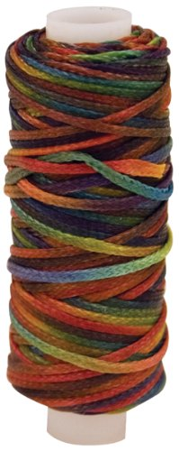 Tandy Leather Waxed Braided Cord 25 yds. (22.9 m) Multi-Color 11210-30