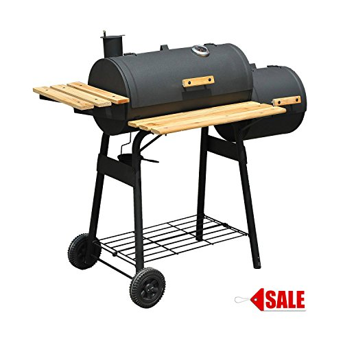 BBQ Grill Charcoal Barbecue Patio Backyard Smoker Outdoor Camping Combo With Wheels - Skroutz by Unknown