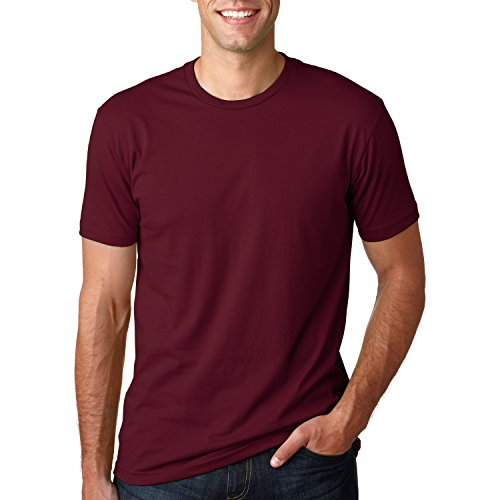 Next Level Mens Premium Fitted Short-Sleeve Crew T-Shirt - X-Large - Maroon