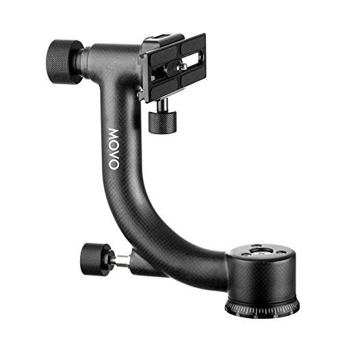 Movo GH600 Vertical/Portrait Mount Carbon Fiber Gimbal Tripod Head with Arca-Swiss Quick-Release Plate