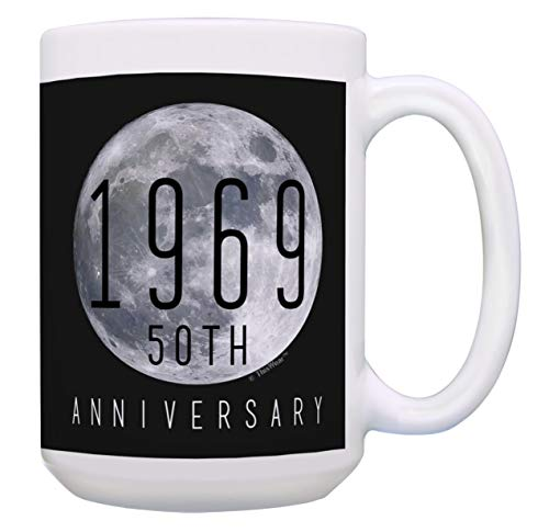 STEM Gifts 1969 US Moon Landing 50th Anniversary Coffee Mugs 15-oz Coffee Mug Tea Cup Black