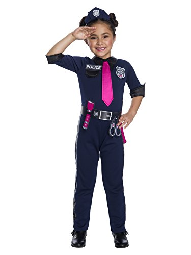 Rubie's Barbie Career Childrens Costume, Police Officer, -