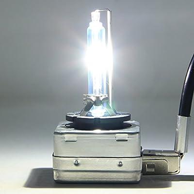 RCP - D1S4 - (A Pair) D1S 4300K Xenon HID Repcement Bulb Factory White Warm White Metal Stents Base 12V Car Headlight Lamps Head Lights 35W