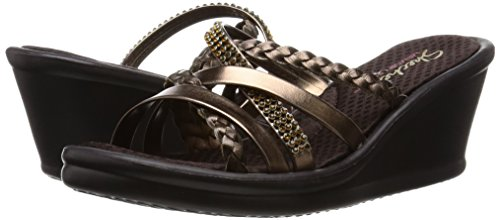 Skechers Cali Women's Rumbers-Wild Child Wedge Sandal,Bronze Rhinestone,9 M US by Skechers (Image #6)