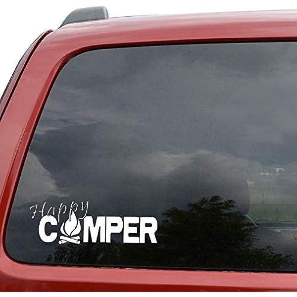 Stickers Pegatinas para Furgonetas Camper Sticker Vinilos Furgonetas Pegatinas Pegatina Coche Etiqueta Engomada del Coche CM Happy Camper Camping De Fuego Pegatinas: Amazon.es: Hogar