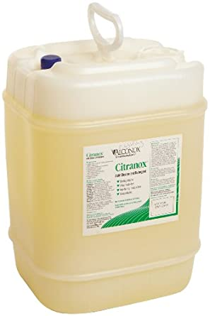 Alconox 1805 Citranox Phosphate-Free Concentrated Cleaner and Metal Brightener, 5 gallon Jerrycan