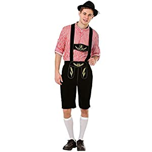 Oktoberfest Lederhosen Men's Halloween Costume – Traditional German Outfit