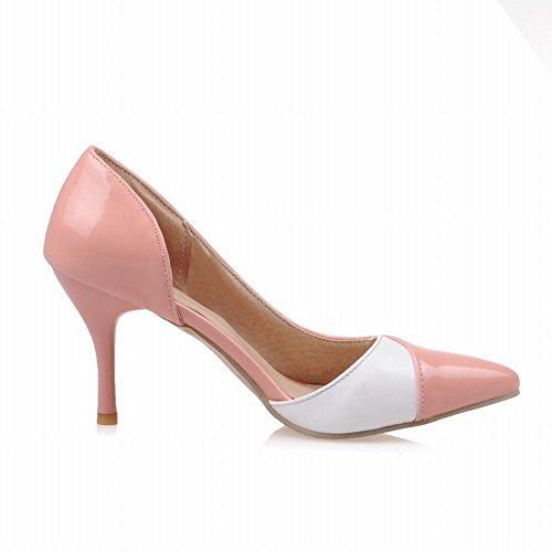 Latasa Mujeres Moda Punta Estrecha Dedo Dorsay Bombas Zapatos Rosa