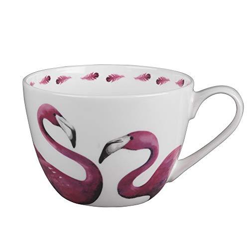 Portobello Wilmslow Pretty In Pink Bone China Mug, Set of 2