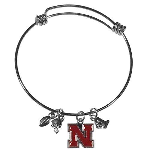 Siskiyou NCAA Nebraska Cornhuskers Charm Bangle Bracelet