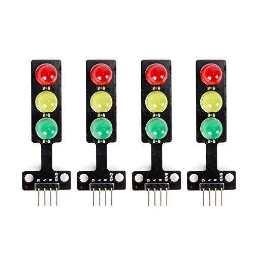 Oak-Pine 4pcs 5MM 5V Mini Traffic Light Red Yellow Green LED Display Module Creative DIY for Arduino, DIY Project