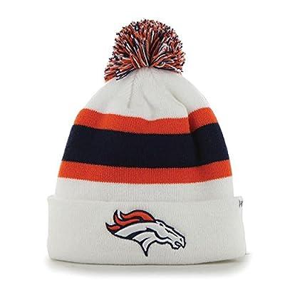 Denver Broncos 47 Brand White Navy Orange Knit Cuffed Breakaway Beanie Hat Cap