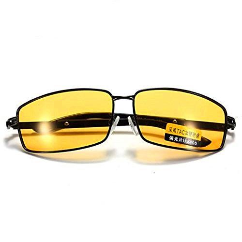- FVANOR G1YE Mens Sunglasses HD Polarized Glasses for Driving Fishing Shooting Aviator Anti Glare Alleviate Eye Fatigue Safety Nightguide Sunglasses (Yellow)