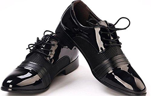 CSDM Uomo Casual Scarpe da sposa scarpe da sposa Punto a tracolla Respirabile in gomma Bottom , black , 41
