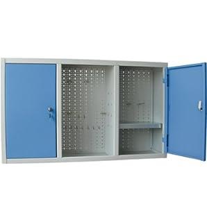 armario para de chapa con puertas de color azul fondo