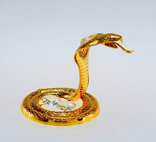 (Stunning 24k Gold Plated Spectra Swarovski Crystal Elements Cobra Snake )