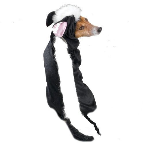 Casual Canine Lil' Stinker Dog Costume, X-Small (fits lengths up to 8″), Black/White, My Pet Supplies