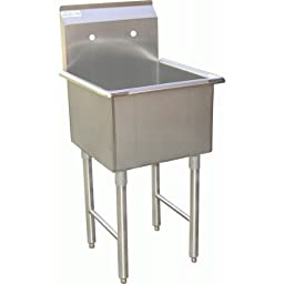 ACE 1 Compartment Stainless Steel Commercial Food Preparation Sink 18\