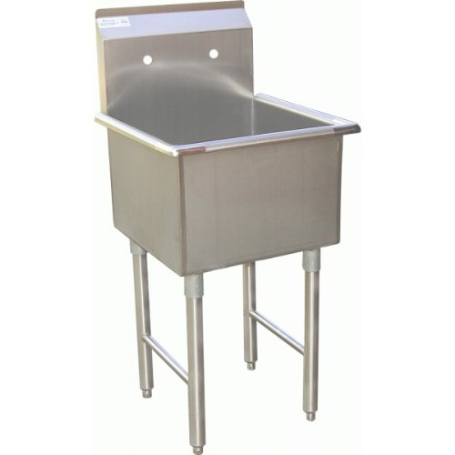 ACE 1 Compartment Stainless Steel Commercial Food Preparation Sink 18''W x 18''L ETL Certified by ACE
