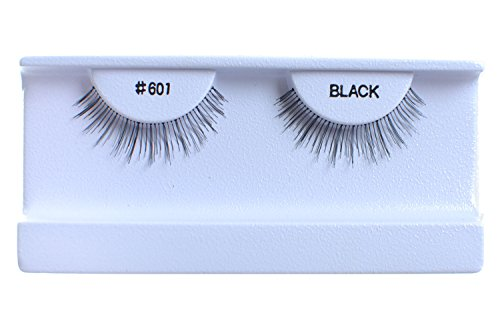 10 Pairs 100% Human Hair False Eyelashes Natural Black #601