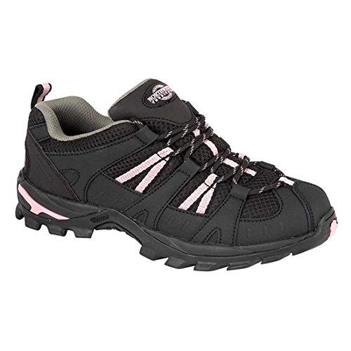 Damen Montana vollständig wasserdicht Walking/Wandern/Schnürschuh Trainer Schuh Schwarz / Pink