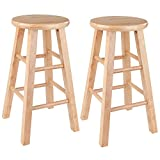 Product review for Winsome Wood 24-Inch Square Leg Barstool with Natural Finish, Set of 2
