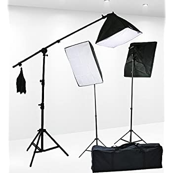 Fancierstudio Lighting Kit 2400 Watt Professional Video Lighting Kit With Three Softbox Lights Boom Arm & Amazon.com : Video Lighting Kit Photo Studio Kit 2000 Watt ... azcodes.com