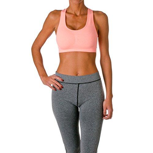 Riverberry Women's Actives Sports Bra, Peach, Size Small/Medium