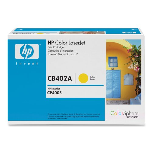 HP Laserjet 642A  Yellow Cartridge in Retail Packaging (CB402A), Office Central