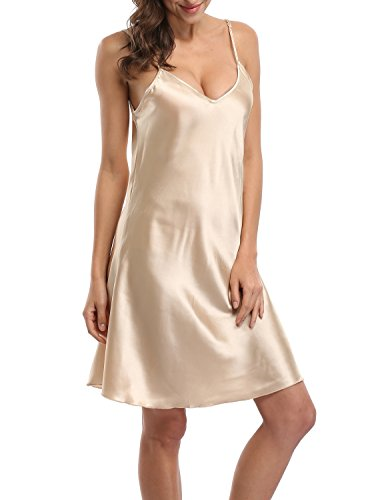 (Old-to-new Satin Chemises Slip Lingerie Sleepwear Lady Girls Sexy Nightdress)