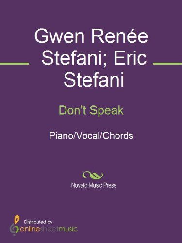 Dont Speak Kindle Edition By Eric Stefani Gwen Rene Stefani No