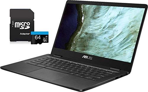"2020 ASUS Chromebook Laptop, 14"" HD LED-Backlit Screen, Intel Celeron N3350 Processor, 4GB Memory, 32GB eMMC SSD, Wi-Fi, Bluetooth, Webcam, Online Class, Chrome OS, Grey(Renewed)"