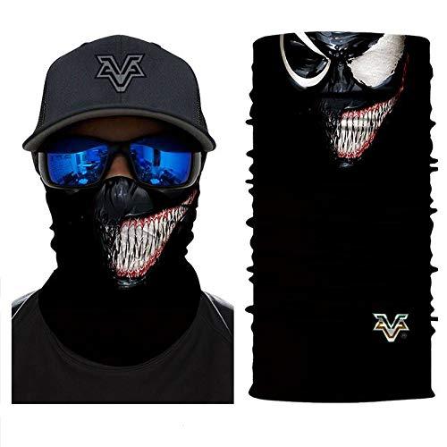 3D Headband Headwears Bandana Headscarf Venom Face Spider Masks Scarfs Movie Scarf Mask Tube Neck Full Lower Half Shield Sun Hiking Cosplay Costume No.225