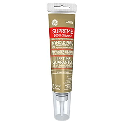 GE Supreme Silicone Min WaterReady Caulk Oz Tube - 100 silicone caulk for shower