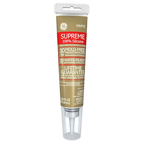 GE Supreme Silicone Water Ready caulk