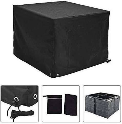 ファニチャー カバー ガーデン家具セットのカバー、屋外パティオテーブルと椅子、2サイズのためのオックスフォード生地の防水透湿性保護カバー、 シバオ (Size : L123CM x W123CM x H74CM)