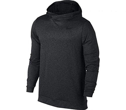 Price comparison product image Nike Mens Breath long Sleeve Hooded Training Shirt Anthracite/Black 832829-060 Size Large