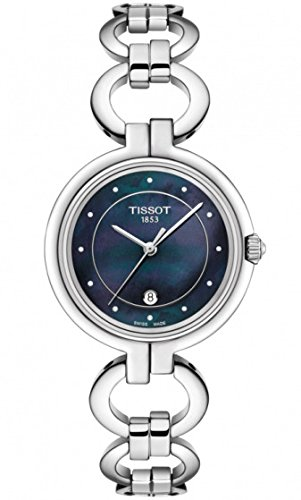 Tissot Flamingo Ladies Watch Diamonds Blue Mother of Pearl Stainless Steel T094.210.11.126.00