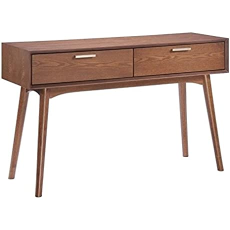 Brika Home Console Table In Walnut
