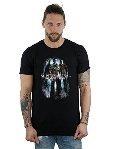 Supernatural Men's Group Castiel T-Shirt Medium Black
