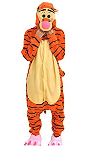Ddwolf Halloween Fleece Tigger Onesie Unisex Adult