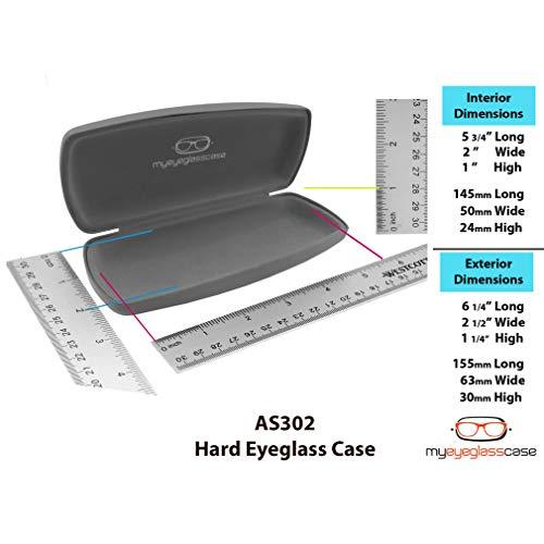 MyEyeglassCase Hard eyeglass case w/cleaning cloth   medium size for men,  women
