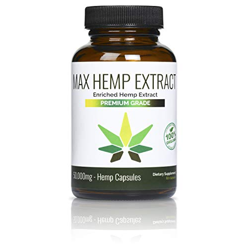 Max Hemp Extract 50,000mg of Pure Hemp Extract – Pain, Stress & Anxiety Relief – Natural Sleep & Mood Support – Made in…