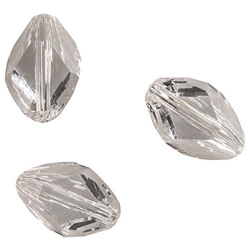 Rayher Swarovski Crystal Hobby 14787120 Cubist Beads 12 x 8 MM Self-Service Bag/Pack of 3 / Moonstone