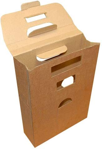 Beer and Ale Bottle Box Carrier Holder Fathers Day Gift Pack 215 x 490 x 70mm Qty 20 Boxes