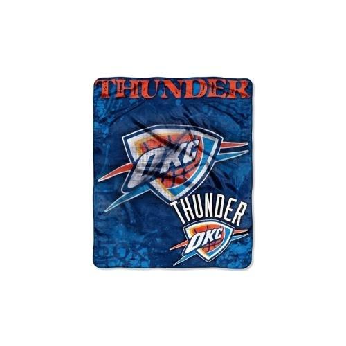 NBA Oklahoma City Thunder Dropdown Raschel Throw, 50 x 60-Inch