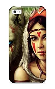 Ultra Slim Fit Hard LeeJUngHyun Case Cover Specially Made For Iphone 6 plus (5.5)- Hayao Miyazaki Princess Mononokes Masks Studio Ghibli Anime Facial Mark Wolves San Princess Mononoke