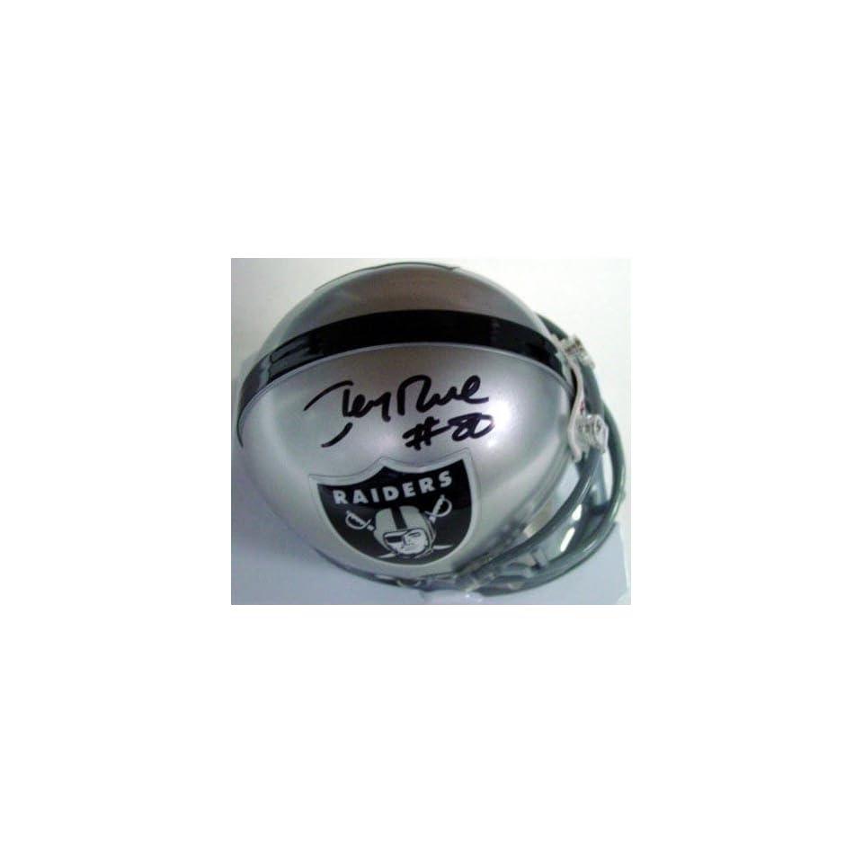 Autographed Jerry Rice Mini Helmet   ( (Hologram)