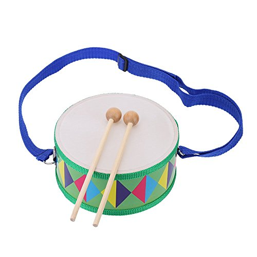 Andoer Colorful Cute Wooden with Plastic Paper Snare Drum Sound Beat Musical Instrument Toy Gift for Baby Kid Child Beginner